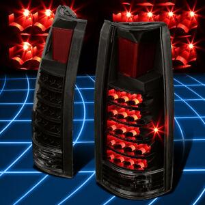 For 88-00 Suburban C/K 1500 2500 Black Smoked LED Tail Brake Lights Replacement