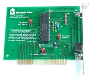 Microsoft InPort Mouse adaptor card for IBM PC XT 8-bit ISA vintage computer