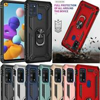 For Samsung Galaxy A21s Case, A217F Slim Armour Shockproof Ring Phone Case Cover