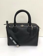NWT Coach Crossgrain Leather Mini Bennett Satchel Handbag F57521 /F36624 - Black