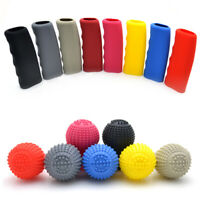 Car Manual Automatic Round Handbrake Cover Silicone Shift Gear Knob Glove Boot