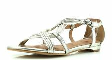 Corso Como FUTURE Silver Ankle Strap Sandals 7301 Size 10 M NEW!
