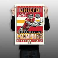 Kansas City Chiefs Super Bowl LIV Champions Tyreek Hill Serigraph
