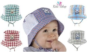 100% RICH Cotton BONNET summer boys HAT 9-24 months TIE UP KIDS cap HATS BOY