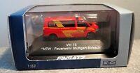 "Rietze 1:87 52621 ""VW T5-MTW Feuerwehr Stuttgart-Birkach"", top in OVP"
