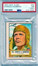 1952 PSA 7 [OC] NM Charles Lindbegh Look'N See Topps #30