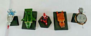Thunderbirds Konami Vol.1&2. Thunderbird Models Thunderbirds 1,2,3,4,5 BNIB