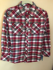 Lucky Brand 100% Cotton Flanel Button Down Shirt Boy Small - NEW w/tags