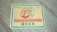 OLD 1940s GERMAN BEER LABEL, BRAUEREI ZOHRLAUT HAIGERLOCH, BOCK BIER 1