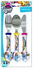 My Little Pony Children's Rainbow Das 3 Piece Cutlery Set  Free P/P