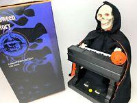 Vintage 95' GEMMY Halloween GRIM REAPER Playing Organ Motion/Sound Ben Franklin