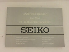 Seiko Analogue Quartz Instruction Manual Cal.7T62 for   Watch