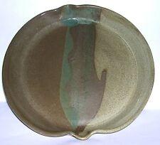 Studio Stoneware Pottery - Large Stylised Tray / Platter - Signed On Base.