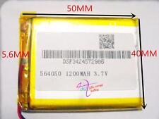 Lipo batería # 1200 mah 3,7 V # polímero de litio 564050 # circuito protección