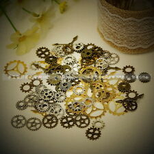 10 PCS Mixed Steampunk GEARS Watch Parts Altered Art Gold Plated Gears