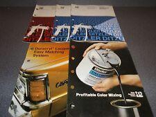 Vintager Truck Color List Imported Supplement List Lot of (5) 1964-1984 Ditzler