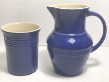 Pitcher & Crock by Olive & Thyme - Dark Blue - Excellent!! Farmhouse Decor