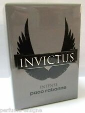 Paco Rabanne INVICTUS INTENSE 3.4oz 100ml Men EDT 100%Original & Sealed *NEW*