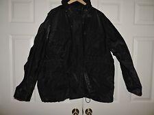 Mens Vintage PVC Rain Jacket Tommy Hilfiger Size: Large Black