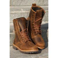 stivali stivaletti pelle moto vintage scrambler OJ Anfibio Sound marrone boots