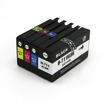 4Pk Compatible HP 711XL Ink Cartridge for HP Designjet T120 and T520
