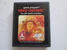 Video Checkers CX2636 For Atari 2600 Game Cartridge / Cart 1978