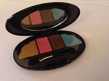BN 100% Auth Lancome Eyeshadow Quad Compact With Mirror. Gold, Pink, Brown, Blue