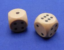 Natural Wooden Dice Replacement Game Piece Part 3/8 inch Miniature