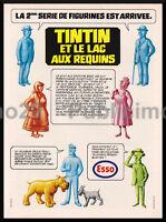 PUB / PUBLICITE TINTIN 70 / 80 's  ESSO -  HERGE