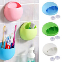 Strong Wall Suction Cup Toothbrush Rack Toothpaste Holder Storage Organizer WE9