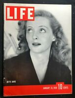 LIFE MAGAZINE  Jan 1939 - BETTE DAVIS / Mexican Revolution / Gunga Din / Coke Ad