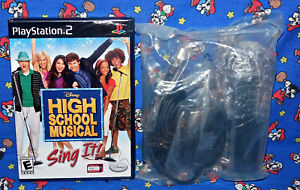 High School Musical Sing + Microphone Bundle PlayStation 2 PS2 Game New Sealed