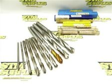 """LOT OF 10 NEW! & USED HSS+CARBIDE TIP STRAIGHT SHANK DRILLS 3/16"""" TO 35/64"""" DIA"""