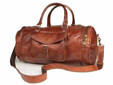 Bag Leather Overnight Travel Duffle Luggage Gym Genuine Vintage Men Weekend New