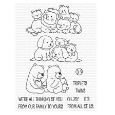 Clearly Besotted BABY LOVE Stamp Set Animals Families Mom Dad Lions Dogs Bears