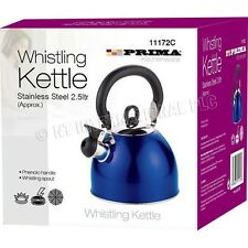 Whistling Kettle Prima Tea Coffee Maker 2.5Ltr Kitchenware Camping Traditional