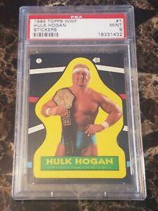 1985 TOPPS WWF HULK HOGAN STICKER #1 PSA 9 MINT ROOKIE