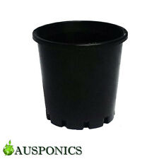 20x 8 LITRE 265 x 240MM BLACK PLASTIC POTS With Holes For Hydroponics