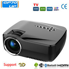 GP70UP HD LED Projector Home Cinema Wireless Wifi Bluetooth Android 4.4 1G+8G