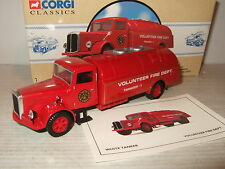 Corgi 98452 White Tanker for Volunteer Fire Department in 1:50 Scale.