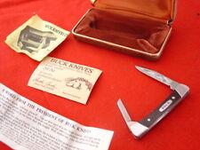 "Buck USA Made Custom Aurum Etch 705 2-5/8"" PONY LTD 2 Blade Pre 1986 Knife MINT"