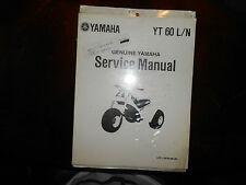NOS Yamaha OEM YT60L YT60N YT60 L/N Service Shop Repair Manual LIT-11616-04-39
