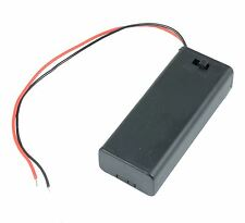 AAA x 2 Enclosed Battery Holder Box with On/Off Switch 15cm Wires
