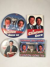 Lot Of 4 1992 Bill Clinton Al Gore Election Buttons