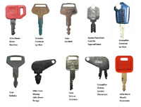 Keyman 10 Heavy Construction Equipment  Keys Set Cat JD Kobelco Komatsu Case +++
