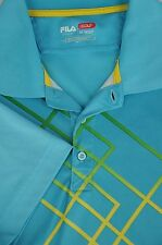 Fila Deporte Golf Hombre Azul Caribe Geométrico Poliéster Polo M