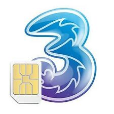 3 PAYG Three Mobile Broadband Micro SIM Card Pay as You Go for iPad iPhone 4/4s