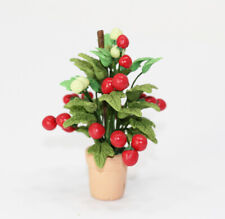 Dollhouse Miniature Realistic Artisan Tomato Plant in a Terracotta Pot
