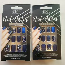 Ardell Nail Addict Premium Matte Blue 12 Ct 75891 Lot of Two