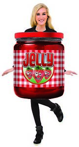 Unisex Adult Jelly Jam Jar Strawberry Fruit Funny Food Tunic Halloween Costume